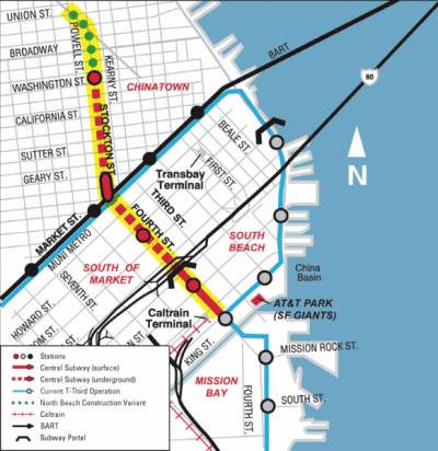 Sfm Subway Map.Structus Sfmta Central Subway